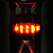 Luz Trasera para Bicicleta LED LED Ciclismo Ajustable Impermeable Soltado Rápido Fácil de Transportar AA 15lm Lumens Pilas AA alimentadas