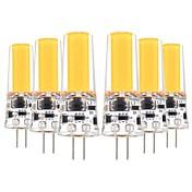 YWXLIGHT® 6pcs 5W 400-500lm G4 LED-lamper med G-sokkel T 1 LED perler COB Dekorativ Varm hvit Kjølig hvit 12V 12-24V