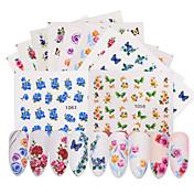 50 pcs Flor / Calcomanías de uñas Etiquetas y cintas / Etiqueta de transferencia de agua / Pegatina de uñas De Armar / Nail Art Design