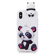 Funda Para Apple iPhone X iPhone 8 Plus Diseños Funda Trasera Oso Panda Suave TPU para iPhone X iPhone 8 Plus iPhone 8 iPhone 7 Plus
