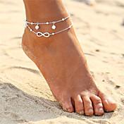 En Capas Brazalete tobillo - Perla infinito Doble Capa, Bohemio, Moda Dorado / Plata Para Fiesta de Noche / Playa / Bikini / Mujer
