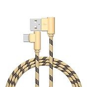 Tipo C Adaptador de cable USB Carga rapida Cable Para Samsung / Huawei / Xiaomi 300cm Aluminio / Nailon