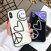 Etui Til Apple iPhone X / iPhone 8 Mønster Bakdeksel Hjerte / Tegneserie Hard Herdet glass til iPhone X / iPhone 8 Plus / iPhone 8