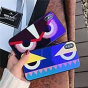 Etui Til Apple iPhone X iPhone 8 Støtsikker Mønster Bakdeksel Tegneserie Hard Herdet glass til iPhone X iPhone 8 Plus iPhone 8 iPhone 7