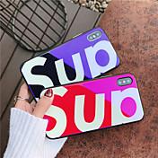 Etui Til Apple iPhone X iPhone 8 Støtsikker Mønster Bakdeksel Ord / setning Hard Herdet glass til iPhone X iPhone 8 Plus iPhone 8 iPhone