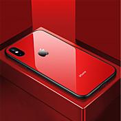 Funda Para Apple iPhone X / iPhone 8 Antigolpes / Espejo Funda Trasera Un Color Dura Vidrio Templado para iPhone X / iPhone 8 Plus /