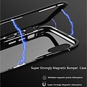 Etui Til Apple iPhone X / iPhone 8 Gjennomsiktig / Magnetisk Bakdeksel Ensfarget Hard Aluminium til iPhone X / iPhone 8 Plus / iPhone 8