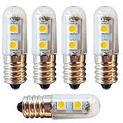 5pcs 1 W 250-280 lm E14 LED-kornpærer 7 LED perler SMD 5050 Dekorativ Varm hvit / Kjølig hvit 220-240 V