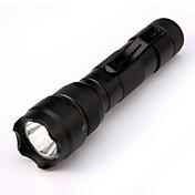 ismartdigi i-502 LED Flashlight LED Lommelygter Bærbar / Anti-Skride Camping / Vandring / Grotte Udforskning / Dagligdags Brug / Jakt Svart