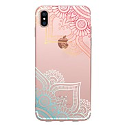 For Case Cover Transparent Pattern Back Cover Case Lace Printing Soft TPU for Apple iPhone X iPhone 8 Plus iPhone 8 iPhone 7 Plus iPhone