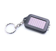 cheap -3-LED White Light Solar Powered Self-Recharge Flashlight Keychain -Black