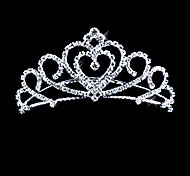cheap -Crystal Fabric Alloy Tiaras 1 Wedding Special Occasion Party / Evening Headpiece