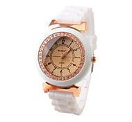 Fashion Silicone Band Quartz Wrist Watch For Women(White) Cool Watches Unique Watches