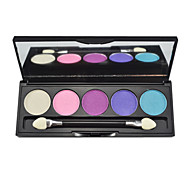 5 Eyeshadow Palette Shimmer Eyeshadow palette Powder Normal Daily Makeup