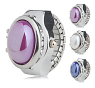 cheap -Women's Quartz Ring Watch Japanese Casual Watch Alloy Band Pearls Fashion Silver