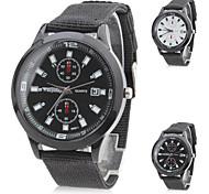 abordables -Hombre Cuarzo Reloj Militar Japonés Gran venta Nailon Banda Encanto Negro Blanco