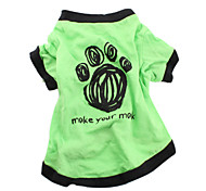 cheap -Dog Shirt / T-Shirt Dog Clothes Breathable Casual/Daily Letter & Number Green Costume For Pets