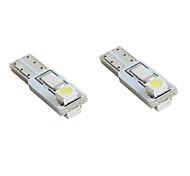 abordables -t5 2 * 1210 blancos dirigidos por las luces del coche de la señal (2-Pack, DC 12V)