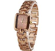 Women's Bracelet Watch Fashion Watch Quartz Alloy Band Elegant Bronze