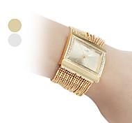 cheap -Women's Fashionable Diamond Alloy Style Analog Quartz Bracelet Wrist Watch (Gold) Cool Watches Unique Watches