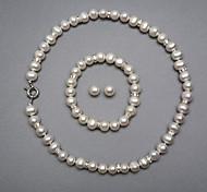Жемчуг Свадьба Для вечеринок День рождения Обручение Серьги Ожерелья браслеты