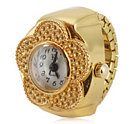 cheap -Women's Quartz Ring Watch Japanese Casual Watch Alloy Band Flower Fashion Gold