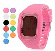 Unisex Digital Uhr mit LED Stil, Silikon (Verschiedene Farben)