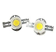 ZDM ™ поделки 10w 800-900lm 6000-7000K естественный белый свет круглый интегрированный светодиодный излучатель (3-пак, 9-11v)
