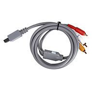 abordables -s-video cable AV para el wii / wii u (gris)