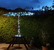 Solar 60-LED White Light Outdoor Fairy Lights Christmas Decoration Lamps