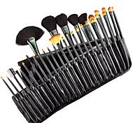 32pcs Goat/Pony hair Makeup Brushes set Professional Black blush/foundation brush shadow/eyeliner brush with Free Case cosmetic brush kit