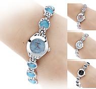 Damen Modeuhr Armband-Uhr Quartz Legierung Band Schwarz Weiß Blau Rosa