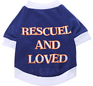 abordables -Perro Camiseta Ropa para Perro Letra y Número Algodón Disfraz Para mascotas Hombre Mujer Casual/Diario