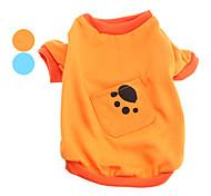 Недорогие -Собака Футболка Одежда для собак Животные Оранжевый Синий Костюм Для домашних животных