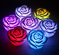 cheap -Romantic Rose Shaped 7 Colors Changing LED Night Light Ramdon Color(3xAG13)