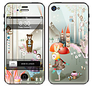 cheap -Cartoon Character Pattern Front and Back Screen Protector Film for iPhone 4/4S