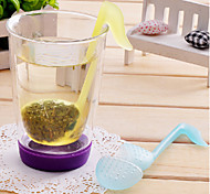 cheap -Phonetic Symbol Shaped Tea Leaves Strainer Filter (Random Color)