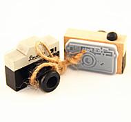 baratos -selo padrão de madeira da câmera do vintage (cores aleatórias)