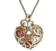Ожерелье Ожерелья с подвесками Винтаж Ожерелья Бижутерия Повседневные В форме сердца Сердце Сплав Резина Подарок
