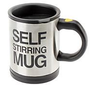 Недорогие -Автоматическая чашка кофе / кружка питьевая посуда из нержавеющей стали чашка кофе само перемешивание кнопка с электрической кружкой