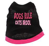 abordables -Perro Camiseta Ropa para Perro Corazón Letra y Número Algodón Disfraz Para mascotas
