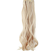 cheap -High Quality Synthetic 45 cm Clip-In Silky Wavy Hair Extension 6 Colors to Choose