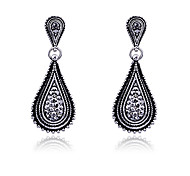 cheap -Women's Drop Earrings Crystal Silver Plated Jewelry Party Daily Casual Costume Jewelry