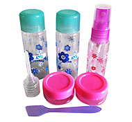 Convenient Nail Art Travel Kits(5PCS Mini Empty Bottles +1 File)