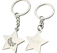 cheap -Personalized Engraved Gift Five-pointed Star Keychains(Set of 6)