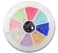 YeManNvYou®240PCS 9-Color 3mm Nail Art Acrylic Rhinestone