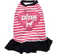 Собака Платья Одежда для собак Буквы и цифры Сердца Розовый