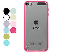 Прозрачный матовый Жесткий чехол для Ipod Touch 5 (разных цветов)