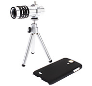 12X Telephoto Lens, Hard Case and Protective Bag for Samsung Galaxy S4 I9500 and S3 I9300