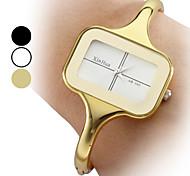 Damen Modeuhr Armband-Uhr Quartz Legierung Band Armreif Elegante Gold